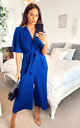 Exclusive Kimono Knot Top Culotte Jumpsuit in Cobalt Blue by Bella and Blue