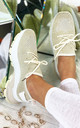 Aitana Knitted Trainers in Beige by Larena Fashion