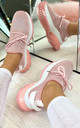 Aitana Knitted Trainers in Pink by Larena Fashion