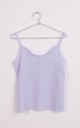 RUFFLE V NECK STRAPPY CAMI TOP in Lilac by LOES House