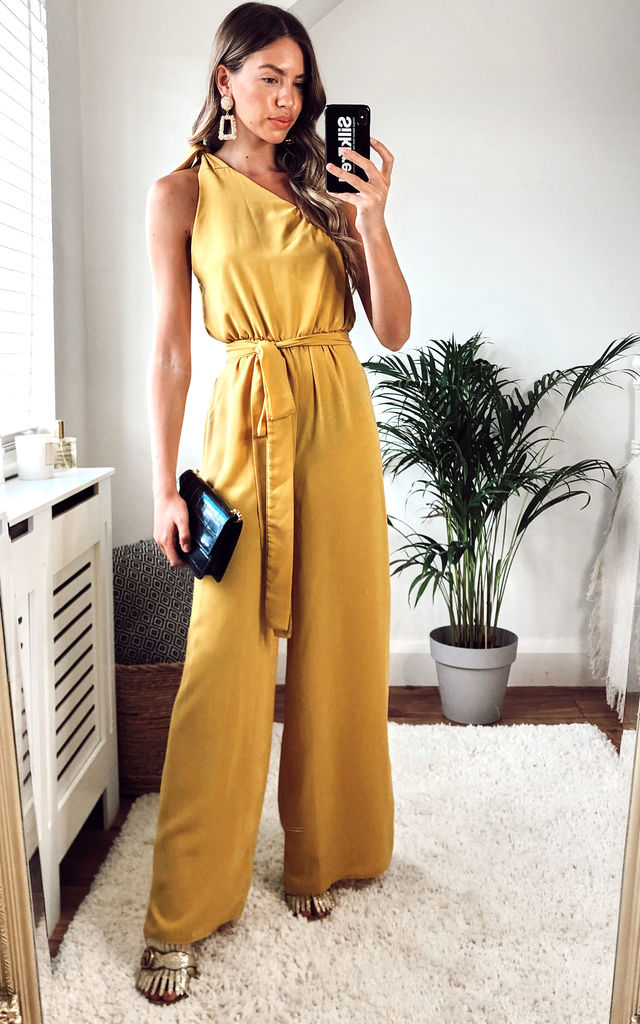 Yellow Zina Jumpsuit by Silver Birch