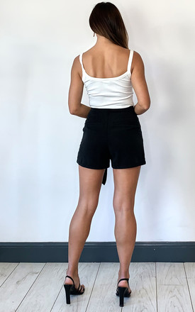 Summer Shorts with Waist Tie in Black by VM