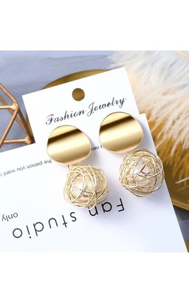 Gold And Pearl Statement Drop Earrings by Always Chic