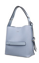SHOULDER BAG WITH ZIP IN BLUE by BESSIE LONDON