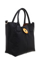 WOODEN BUTTON BAG-IN-BAG TOTE BLACK by BESSIE LONDON