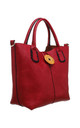 WOODEN BUTTON BAG-IN-BAG TOTE RED by BESSIE LONDON
