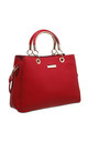 CLASSIC THREE COMPARTMENT TOTE RED by BESSIE LONDON