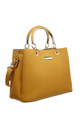 CLASSIC THREE COMPARTMENT TOTE YELLOW by BESSIE LONDON