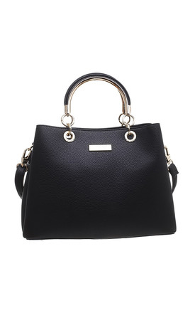 CLASSIC THREE COMPARTMENT TOTE BLACK by BESSIE LONDON
