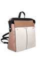 CROC PRINT MULTI COLOUR BACKPACK by BESSIE LONDON