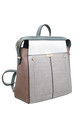 CROC PRINT MULTI COLOUR BACKPACK GREY by BESSIE LONDON