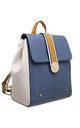 TRIPLE COLOUR FLAP-OVER BACKPACK BLUE by BESSIE LONDON