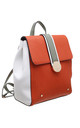 TRIPLE COLOUR FLAP-OVER BACKPACK ORANGE by BESSIE LONDON