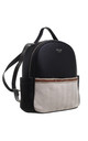 CANVAS FRONT POCKET BACKPACK BLACK by BESSIE LONDON