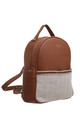 CANVAS FRONT POCKET BACKPACK TAN by BESSIE LONDON