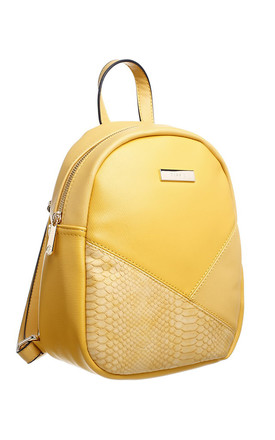 SMALL CROC COLOUR PATCHWORK BACKPACK by BESSIE LONDON