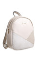 SMALL CROC COLOUR PATCHWORK BACKPACK BEIGE by BESSIE LONDON