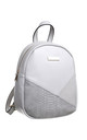 SMALL CROC COLOUR PATCHWORK BACKPACK GREY by BESSIE LONDON