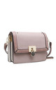 THREE TONE FLAP OVER CROSSBODY BAG PINK by BESSIE LONDON