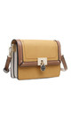 THREE TONE FLAP OVER CROSSBODY BAG YELLOW by BESSIE LONDON