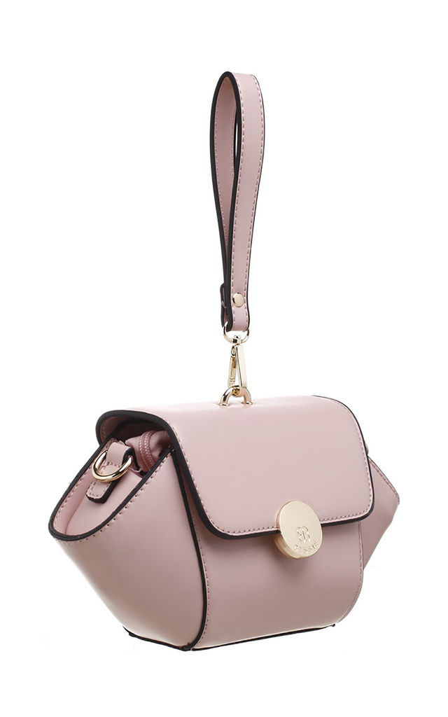 URBAN WRISTLET FLAP OVER BAG PINK by BESSIE LONDON