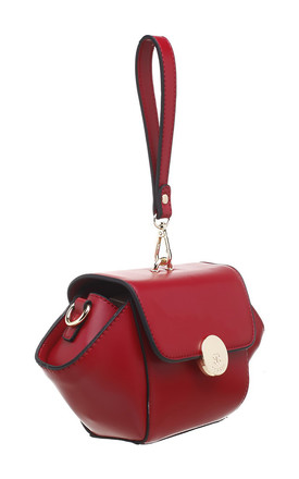 URBAN WRISTLET FLAP OVER BAG RED by BESSIE LONDON