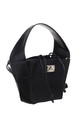 SMALL CROC PRINT BUCKET BAG BLACK by BESSIE LONDON
