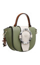 ACRYLIC RING FLAP OVER TOP HANDLE BAG GREEN by BESSIE LONDON