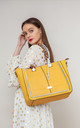 LARGE RIBBON TOTE YELLOW by BESSIE LONDON