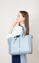 LARGE RIBBON TOTE BLUE by BESSIE LONDON