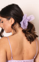 Oversized Organza Hair Scrunchie in Lilac Purple by One Nation Clothing
