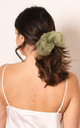 Oversized Organza Hair Scrunchie in Sage Green by One Nation Clothing