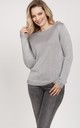 Simple sweater - grey by MKM Knitwear Design