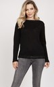 Simple sweater - black by MKM Knitwear Design