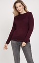 Simple sweater - burgundy by MKM Knitwear Design