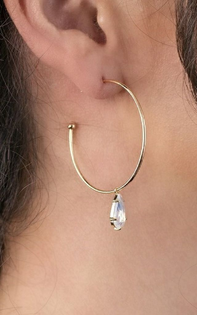 Crystal Hoop Earrings by Perfect Dress Company