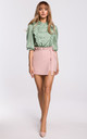 Shorts with Frill in Pink by MOE