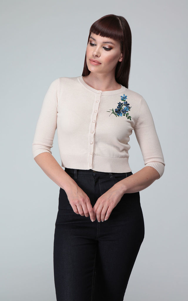 Lucy Forget Me Not Cardigan by Collectif Clothing