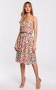Spaghetti Strap Summer Dress in White Floral Print by MOE