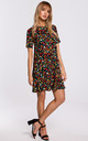 Mini Dress with Open Back in Multicolour Floral Print by MOE