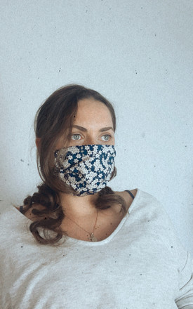 Handmade Floral Face Mask by Lazy Gurl
