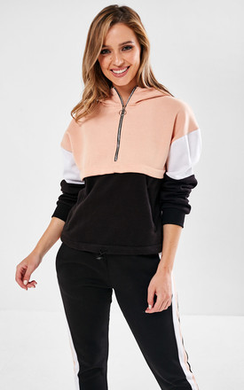 Co-ord Tracksuit in Black and Soft Pink by Marc Angelo
