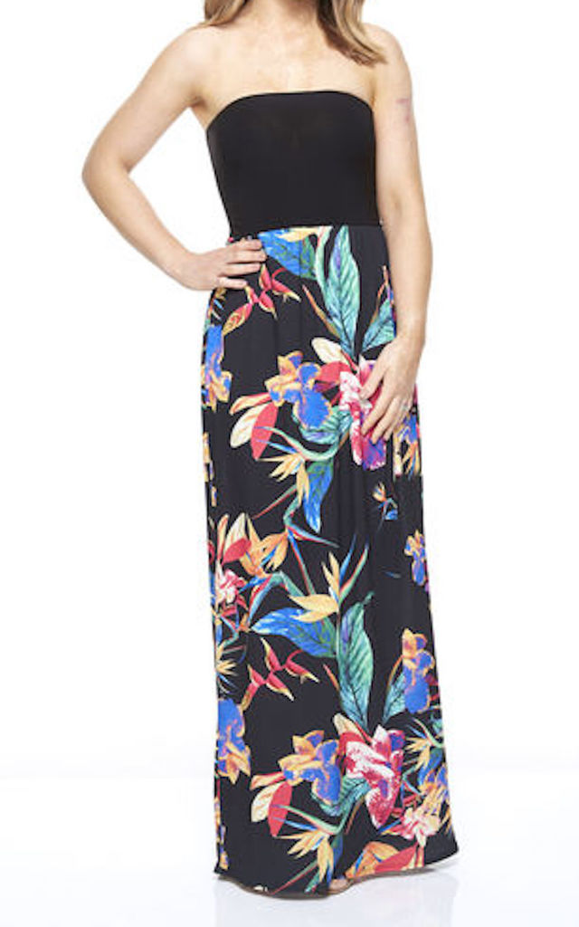 Paradise Black Strapless Maxi Dress by Want That Trend Maternity