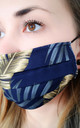 Navy printed face mask (pack of 4) by Lanti