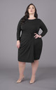 Plus Size Black Dress Long Sleeves by Perfect Dress Company