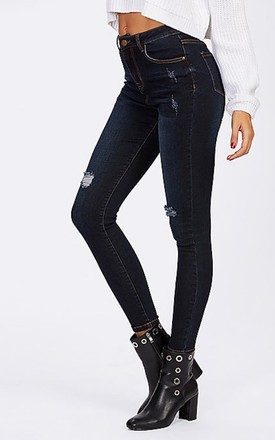 Dark Georgia Jeans by Relle Fashion