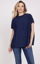 Knitwear blouse with short sleeves - navy blue by MKM Knitwear Design