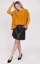 Knitwear blouse with short sleeves - saffron by MKM Knitwear Design