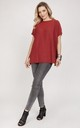 Knitwear blouse with short sleeves - marsala by MKM Knitwear Design
