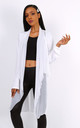 White Bi-Material Summer Cardigan by Azzediari Clothing